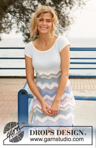 Free knitting pattern for a ripple stitch dress