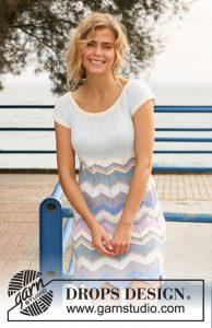 Free knitting pattern for a ripple stitch dress