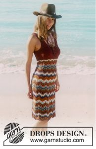 Free knitting pattern for a ripple stitch dress Beach Mermaid