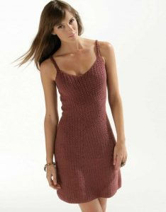 Free knitting pattern for a Summer slip dress