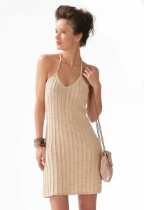 Free knitting pattern for a slip dress