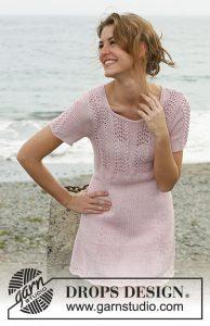 Lace and stockinette stitch dress pattern to knit