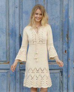 Lace Dress Knitting Pattern Free