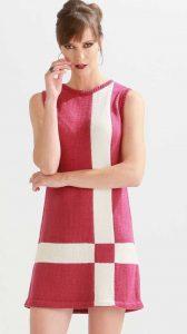 Mod dress knitting pattern