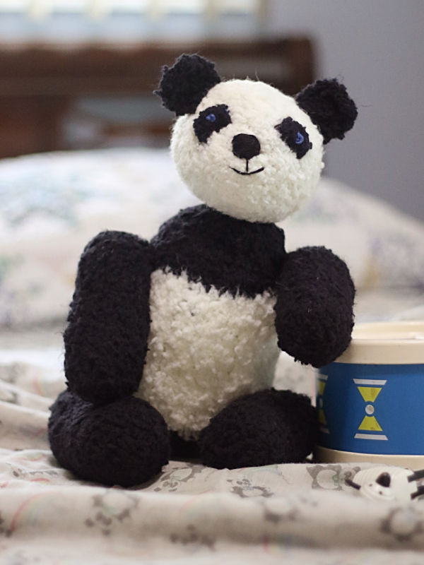 Free Knitting Pattern for Picot the Panda
