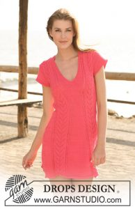 Short lace dress pattern with short sleeves for Summer