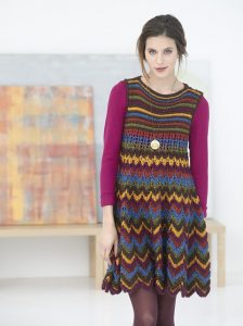 Free knitting pattern for a zig-zag dress