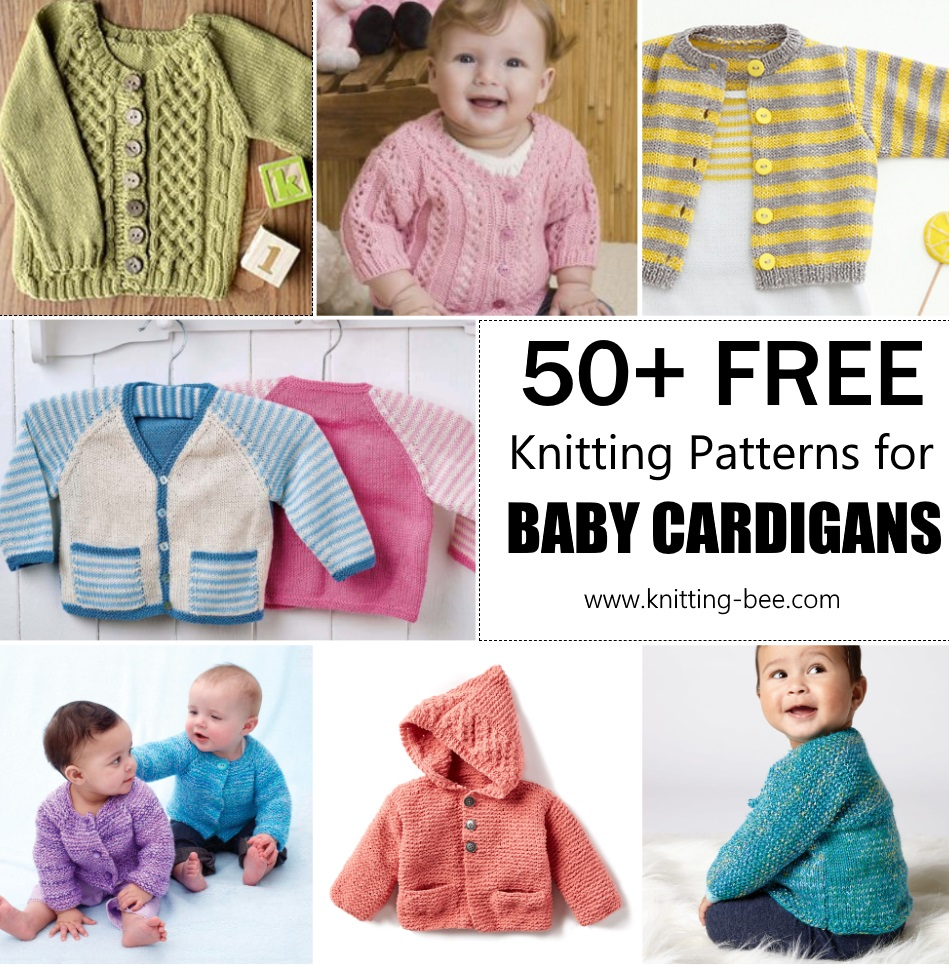 50+ Free Knitting Pattern for Baby Cardigans