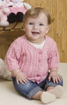 Baby Girl's Sweater Free Knitting Pattern