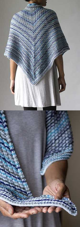Easy Triangle Shawl Free Knitting Pattern