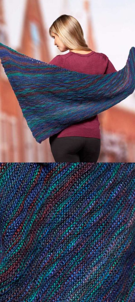 Easy and Free Triangle Shawl Knitting Pattern to Download