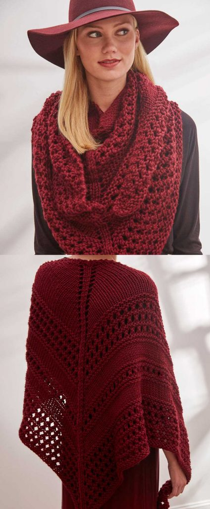 Easy and Free Triangle Shawl Knitting Pattern to Download Beginner Lace