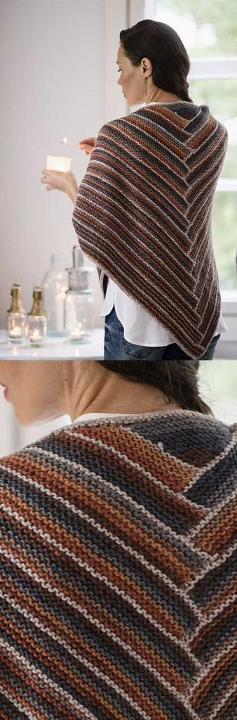 Easy and Free Triangle Shawl Knitting Pattern to Download in Garter Stitch