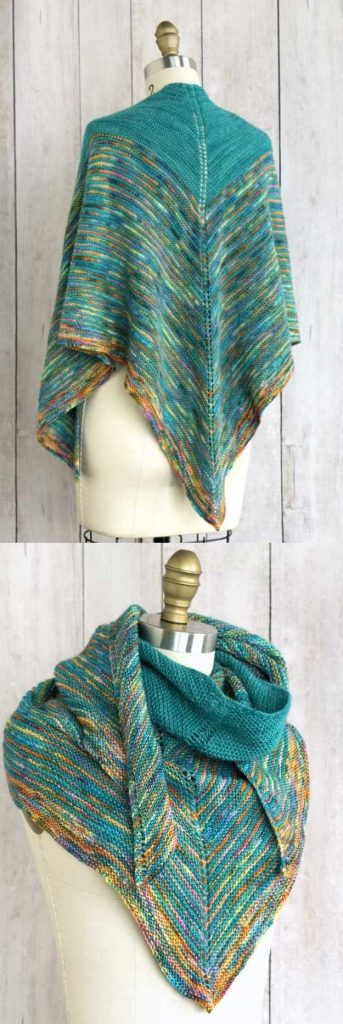 10 Easy and Free Triangle Shawl Knitting Pattern ⋆ Knitting Bee