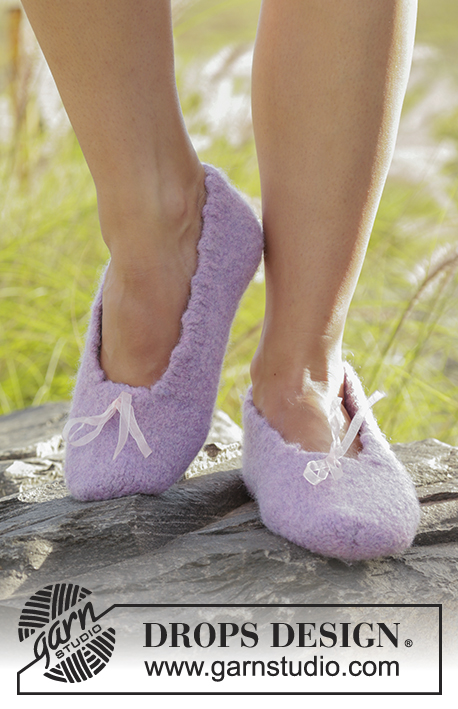 Felted slippers with picot edge free knitting pattern