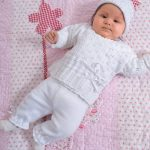Free Baby Knitting Pattern for a Jacket and Pants with Hat