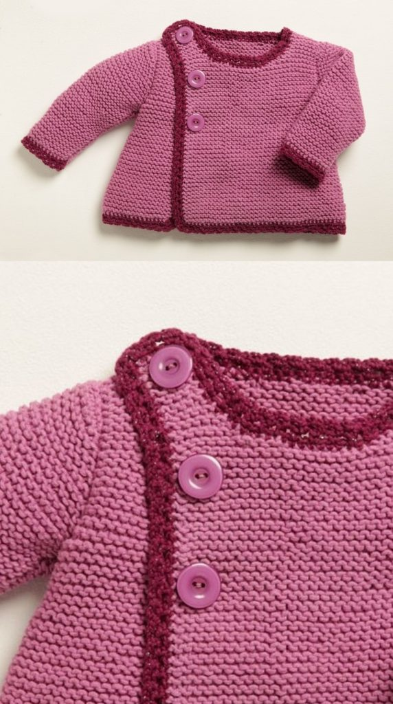 Free Knitting Pattern for Baby Cardigans Easy