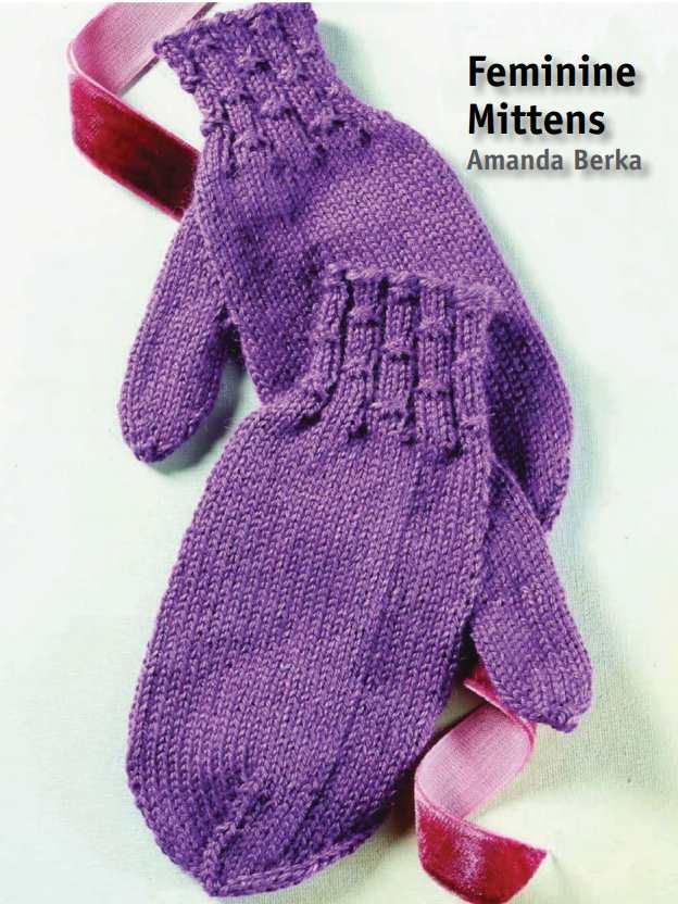 Free Knitting Pattern For Feminine Mittens Knitting Bee