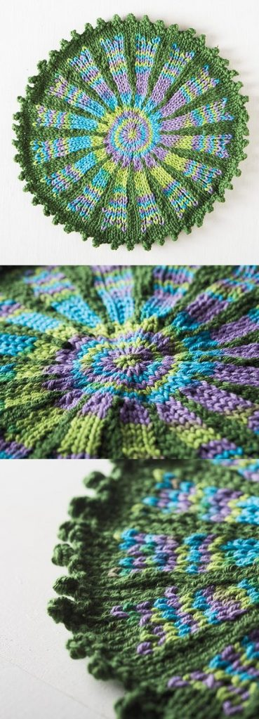 Free Knitting Pattern for Fiore Washcloth
