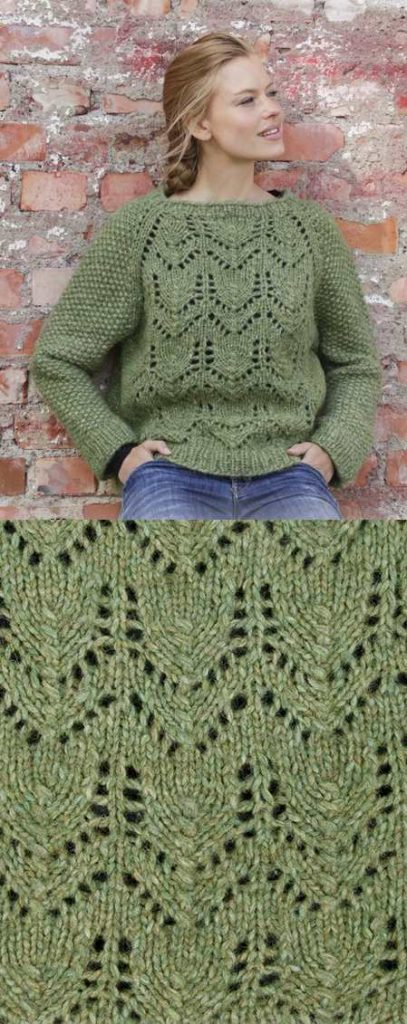Free Knitting Pattern For A Lace Raglan Jumper