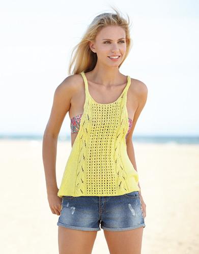 Free Free Lace Tank Knitting Pattern Patterns Knitting Bee 9