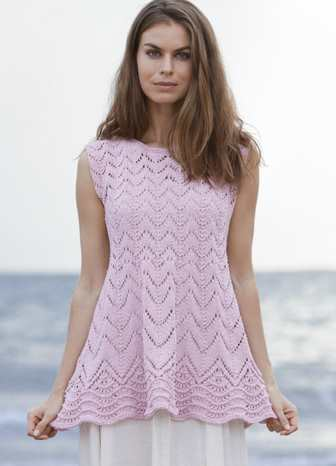 Free Knitting Pattern for Liliana a Wave Lace Top ⋆ Knitting Bee 58c08b88a