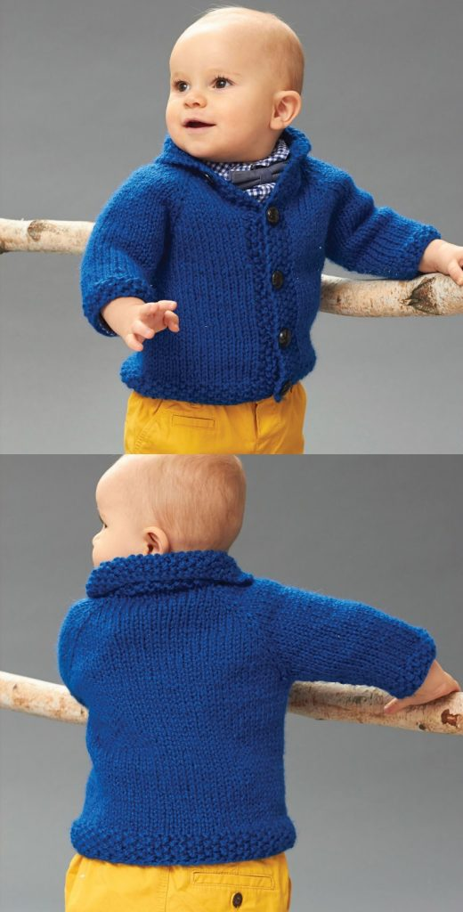 Free Knitting Pattern for Patons Little Gentleman Jacket