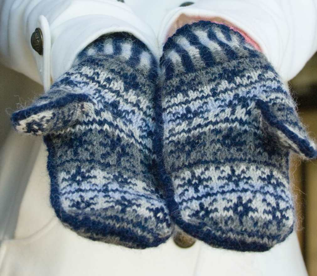 Free Knitting Pattern for White Witch Fair Isle Mitts
