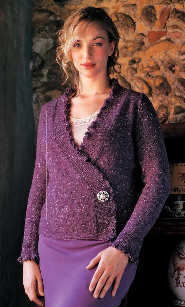 Free Knitting Pattern for a Cardigan - Elise