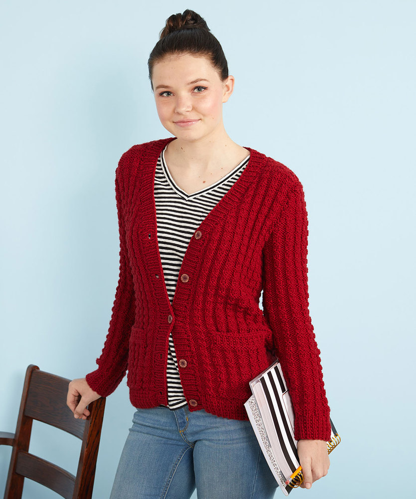 Free Knitting Pattern for a Chillin' Out Knit Cardigan