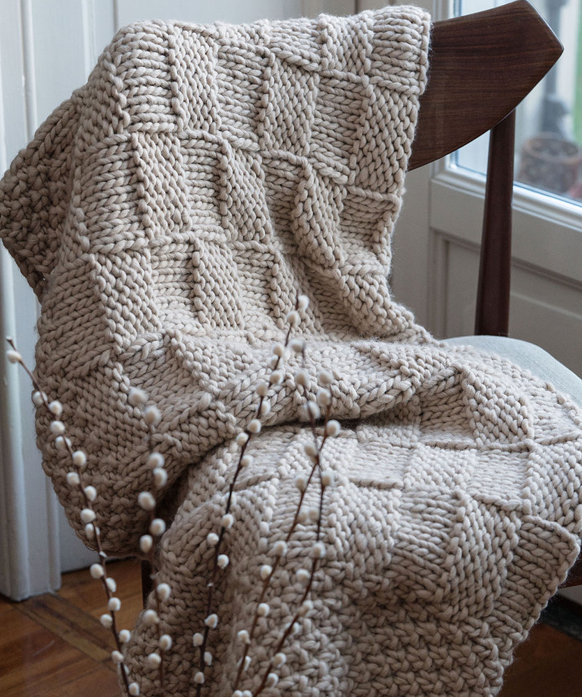 Free Knitting Pattern for a Fiesole Throw