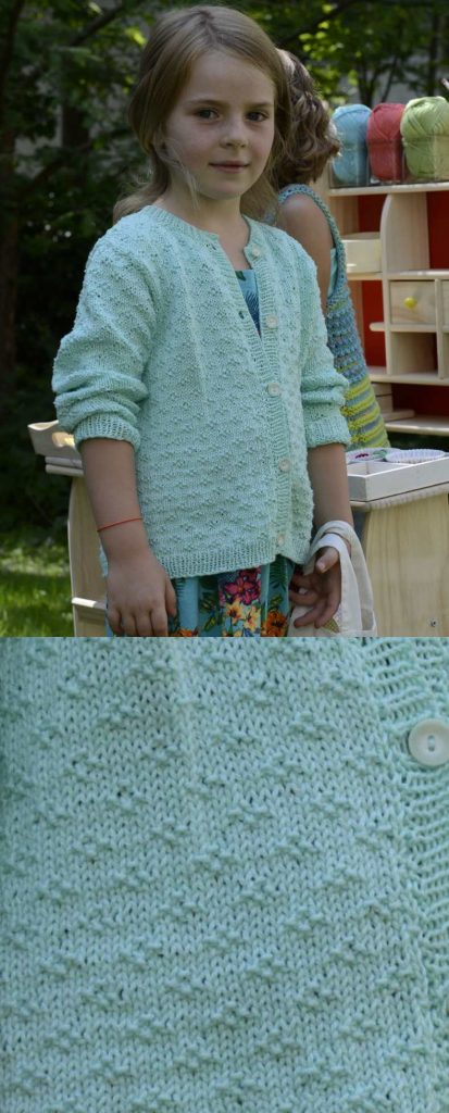 Free Knitting Pattern for a Girls Cardigan