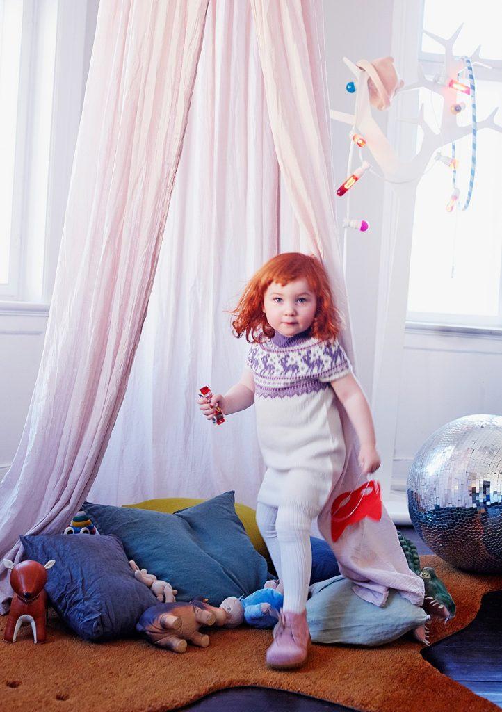 Free Knitting Pattern for a Girls Fairisle Yoke Dress