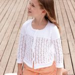 Free Knitting Pattern for a Girls Lace Cardigan