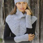 Free Knitting Pattern for a Headband, Neck Warmer Wrist Warmer Set.