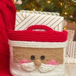 Free Knitting Pattern for a Jolly Santa Knit Basket