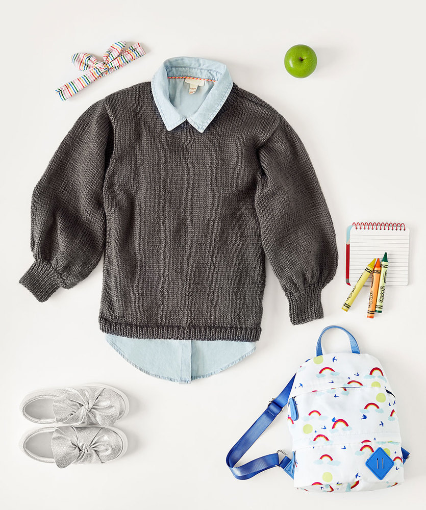 Free Knitting Pattern for a Kids Be-Stoked Knit Sweater