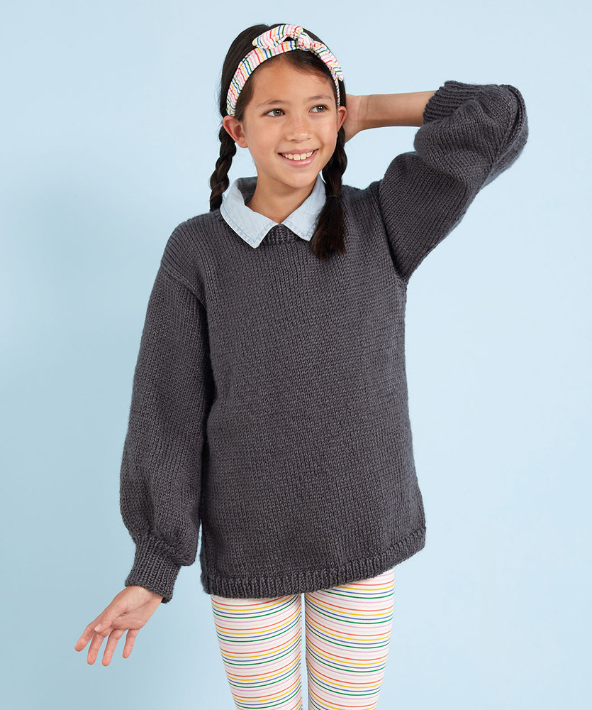 c661ed2b27100e Free Knitting Pattern for a Kids Be-Stoked Knit Sweater. Chunky Garter  Stitch Cardigan