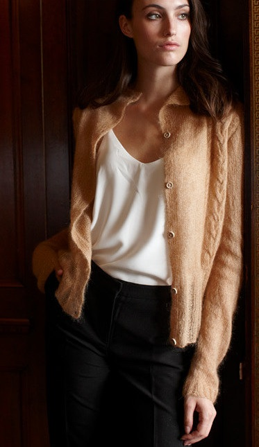 Free Knitting Pattern for a Lace Lucy Cardigan