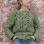 Free Knitting Pattern for Lace Raglan Jumper