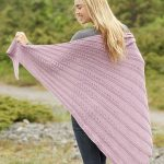 Free Knitting Pattern for a Lace Shawl Pink Cascade