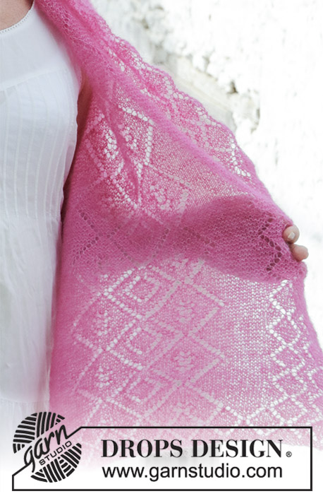 Free Knitting Pattern for a Lace Stole Rosenquarz