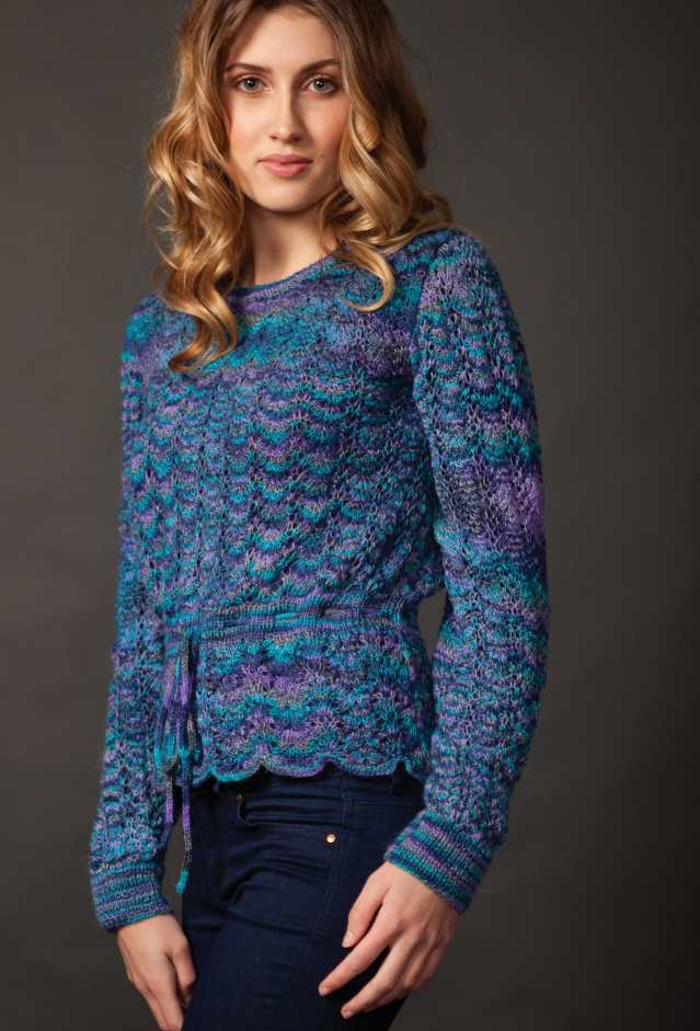 Free Knitting Pattern for a Lace Sweater