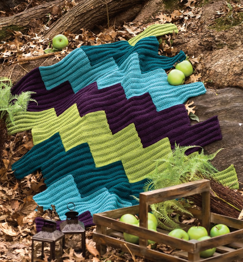 Free Knitting Pattern for a Patchwork Afghan