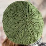 Free Knitting Pattern for a Salunga Lace Beret