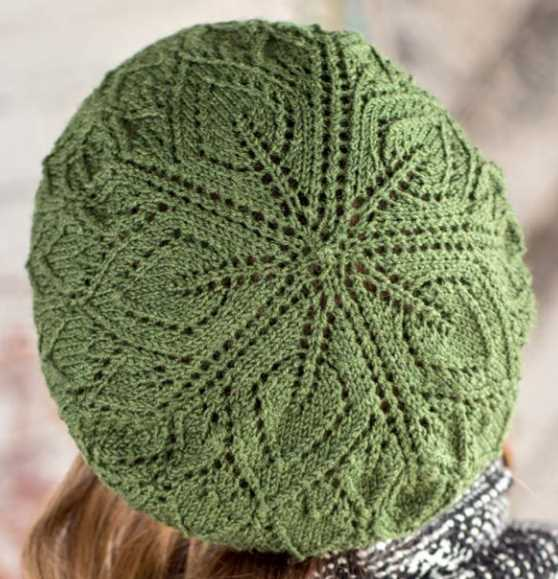Free Free Lace Hat Knitting Patterns Patterns Knitting Bee 22