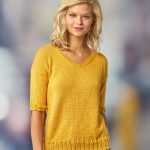 Free Knitting Pattern for a Short Sleeve Summer Top