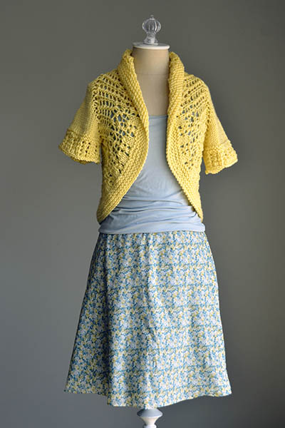 Free Knitting Pattern for a Sunshine Shrug
