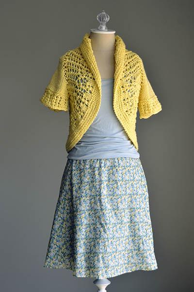 Free Knitting Pattern for a Sunshine Shrug