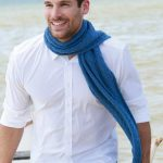 Free Knitting Pattern for a Textured Men's Scarf